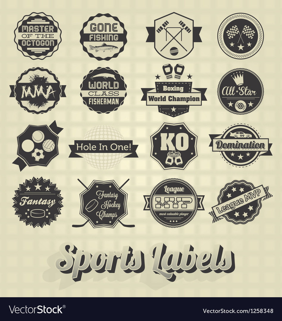 Mixed Sports Labels