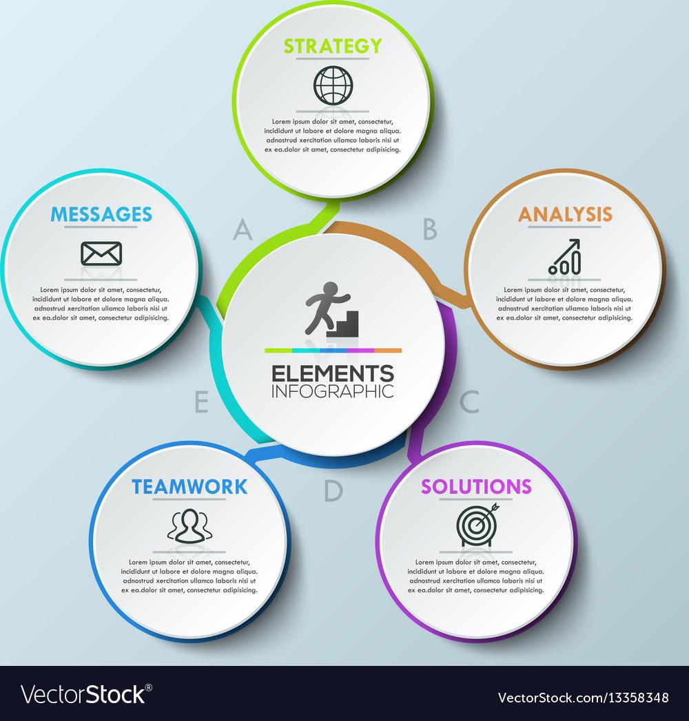 Modern infographic design template circular