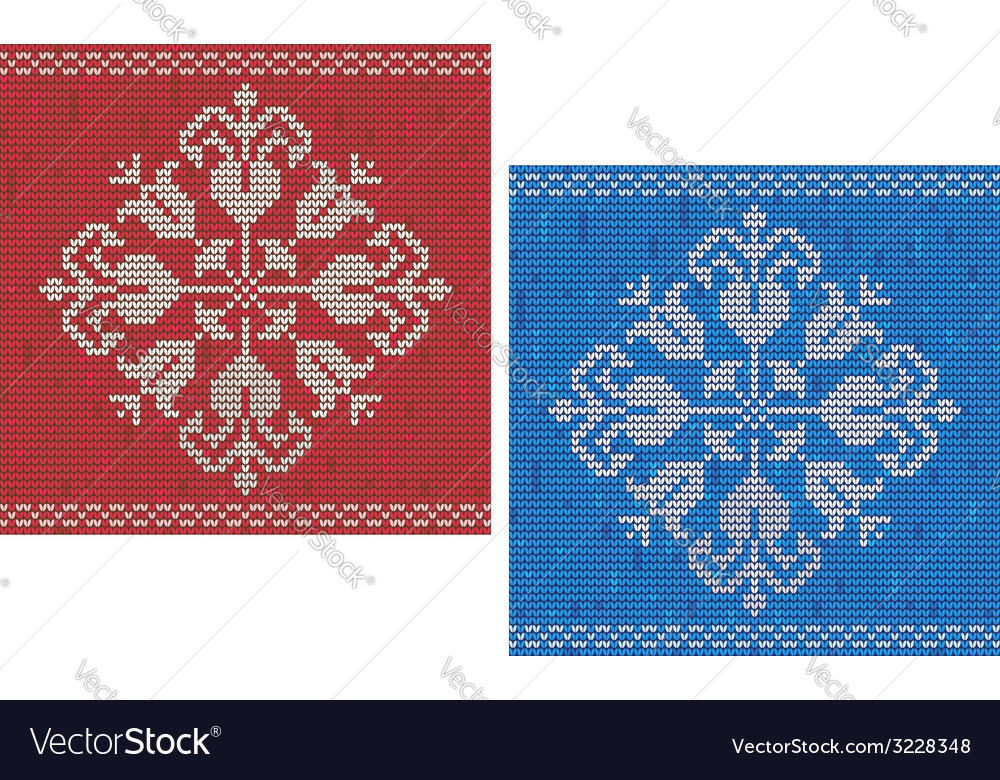 Snowflake Knitted Pattern Royalty Free Vector Image