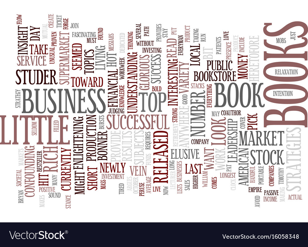 The Most Popular Business Books Text Background Vector Image