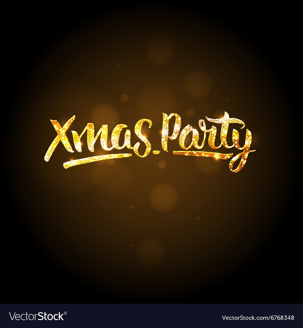Xmas party template Christmas golden background