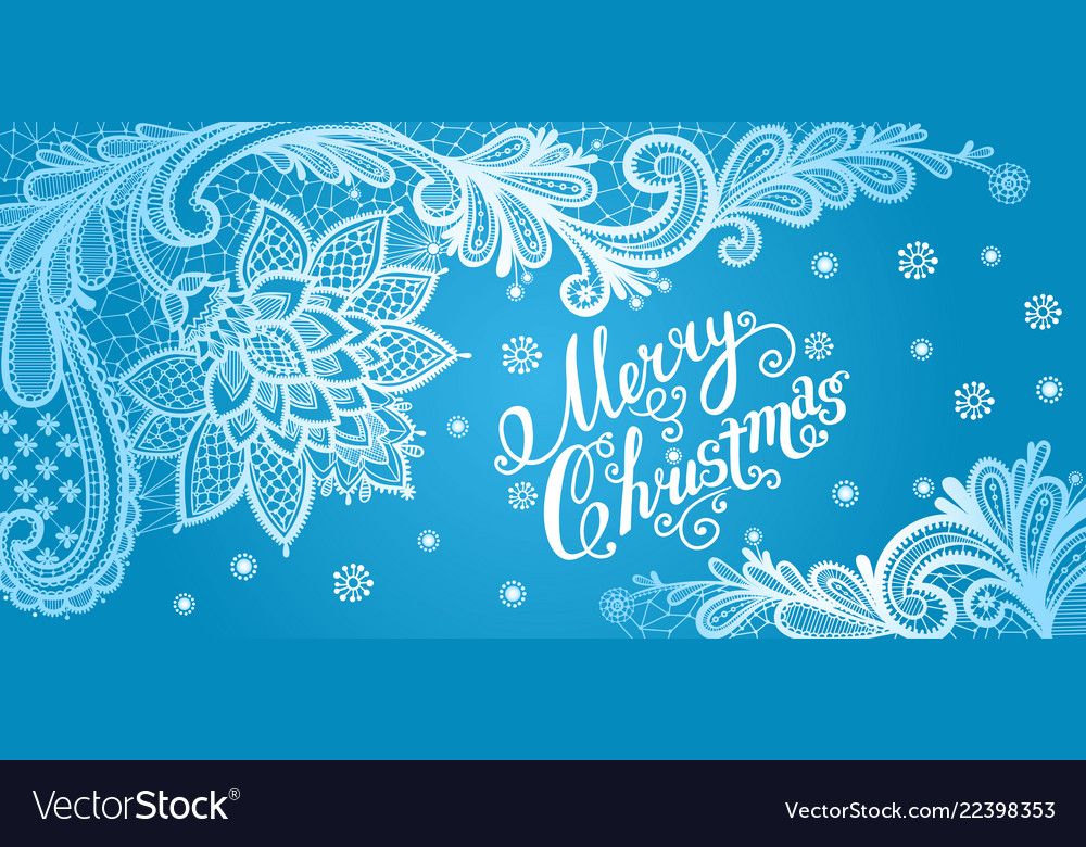 Christmas lace card with text