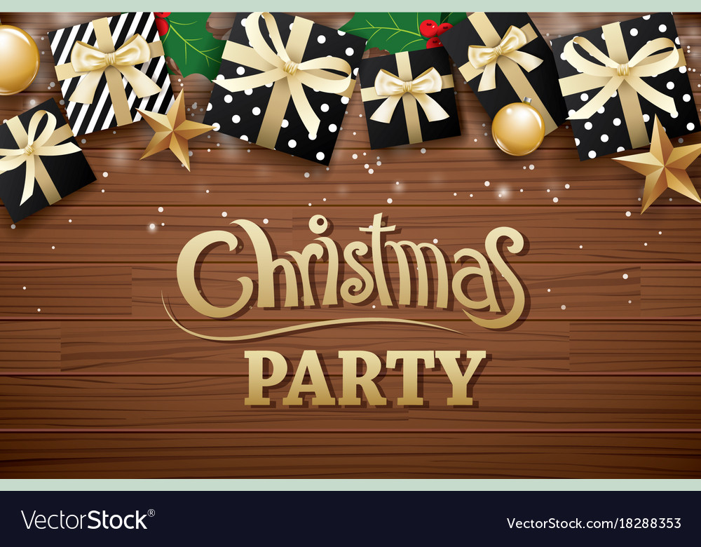 Christmas party poster background design template