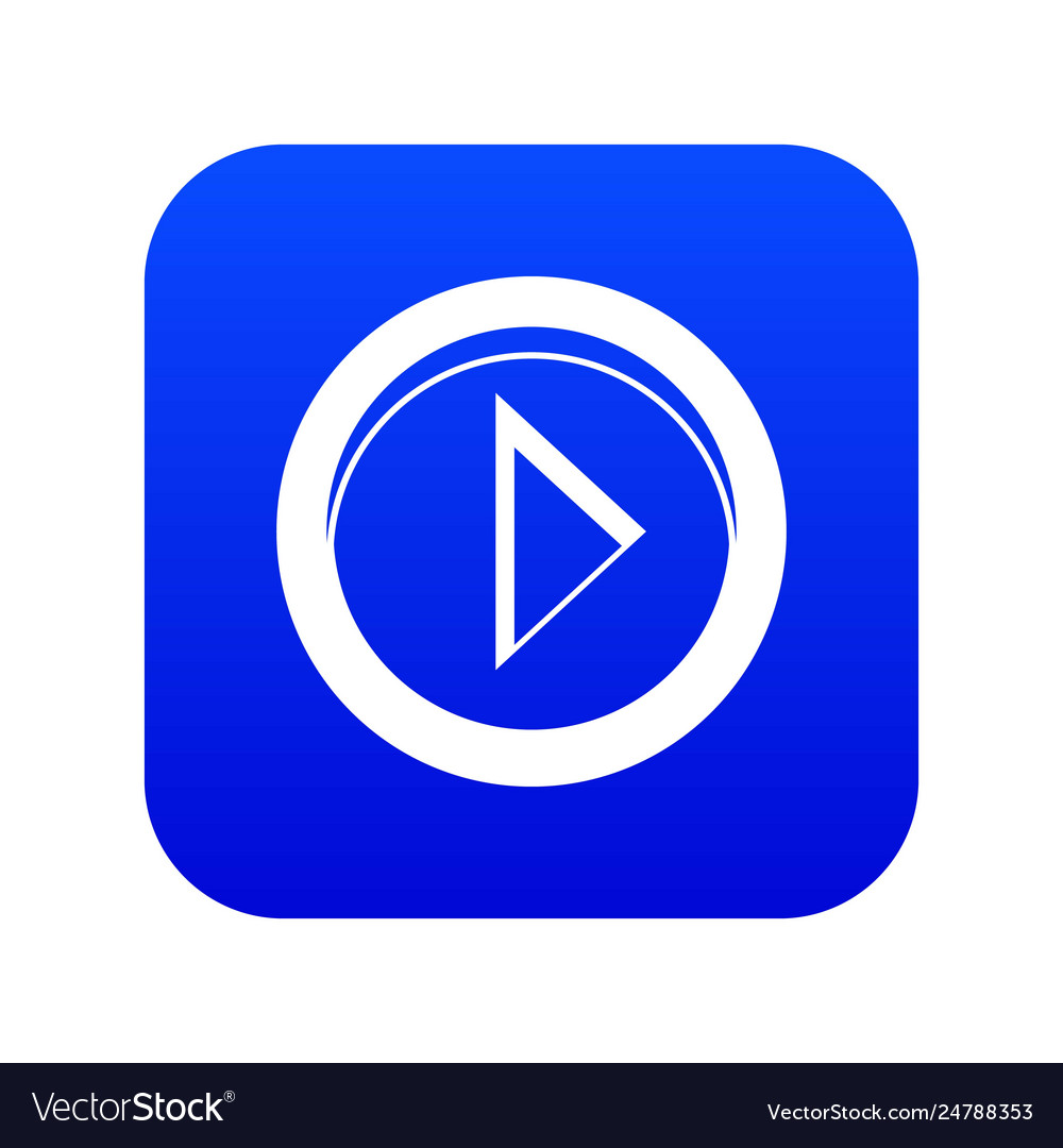 Cursor to right in circle icon digital blue