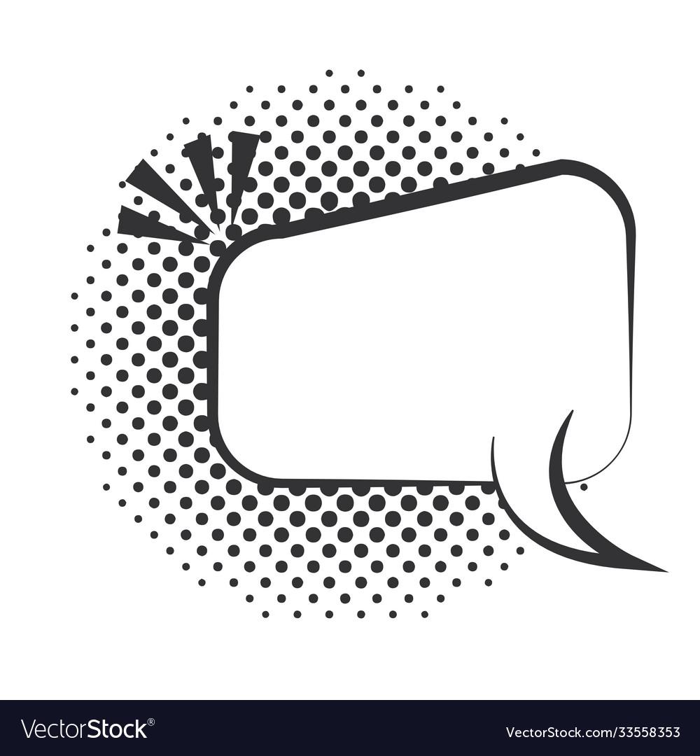 Pop art speech bubble comic dialog halftone style