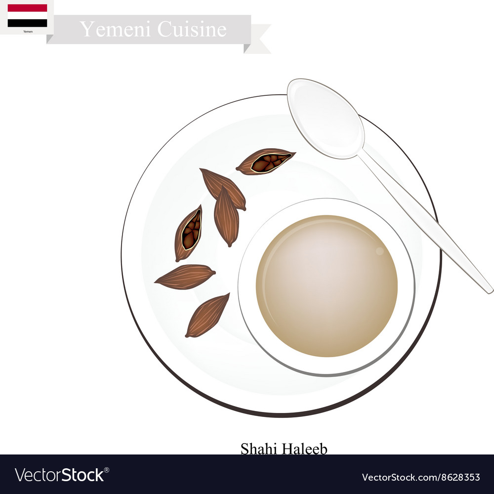 Shahi Haleeb or Yemen Traditional Milk Tea vector image