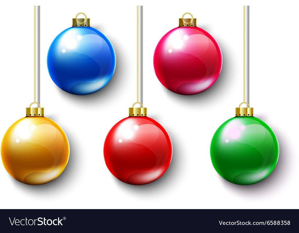 Colorful Ball Christmas Gold Chain