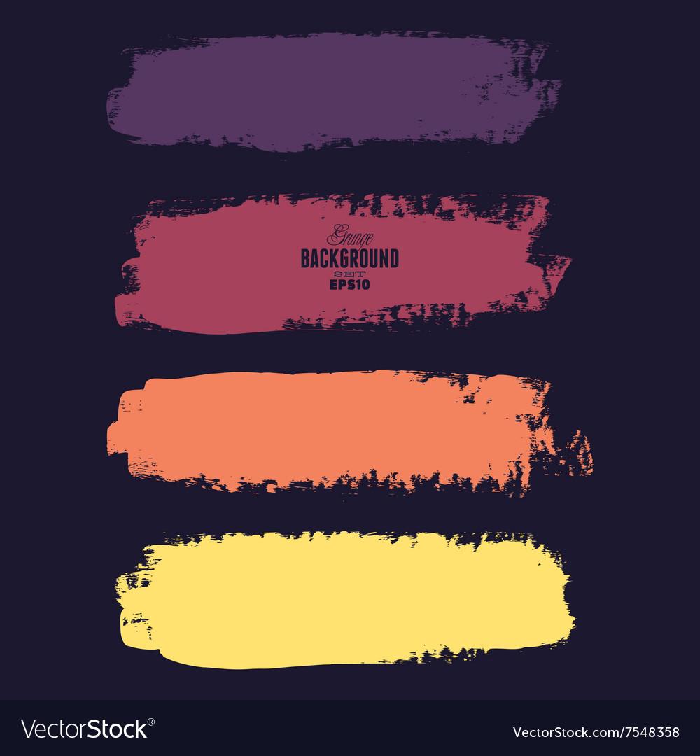 Grunge banner backgrounds in color
