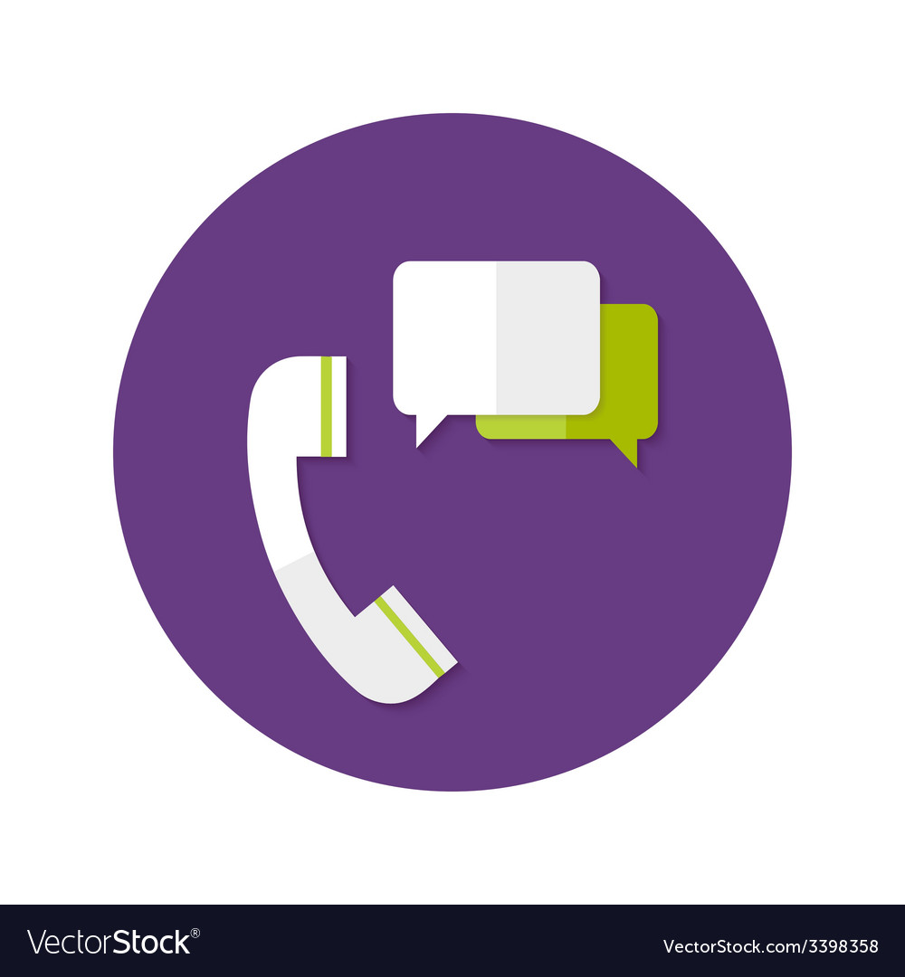 Help Callback Flat Circle Icon vector image