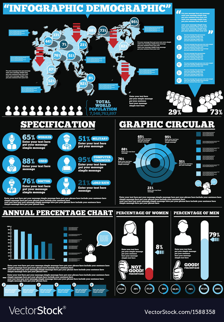 INFOGRAPHIC DEMOGRAPHIC MODERN STYLE 1