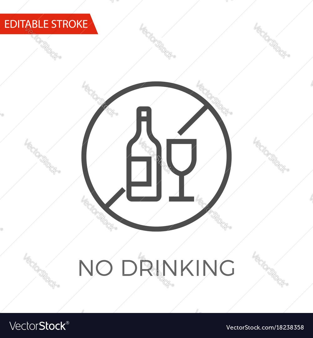 No drinking icon