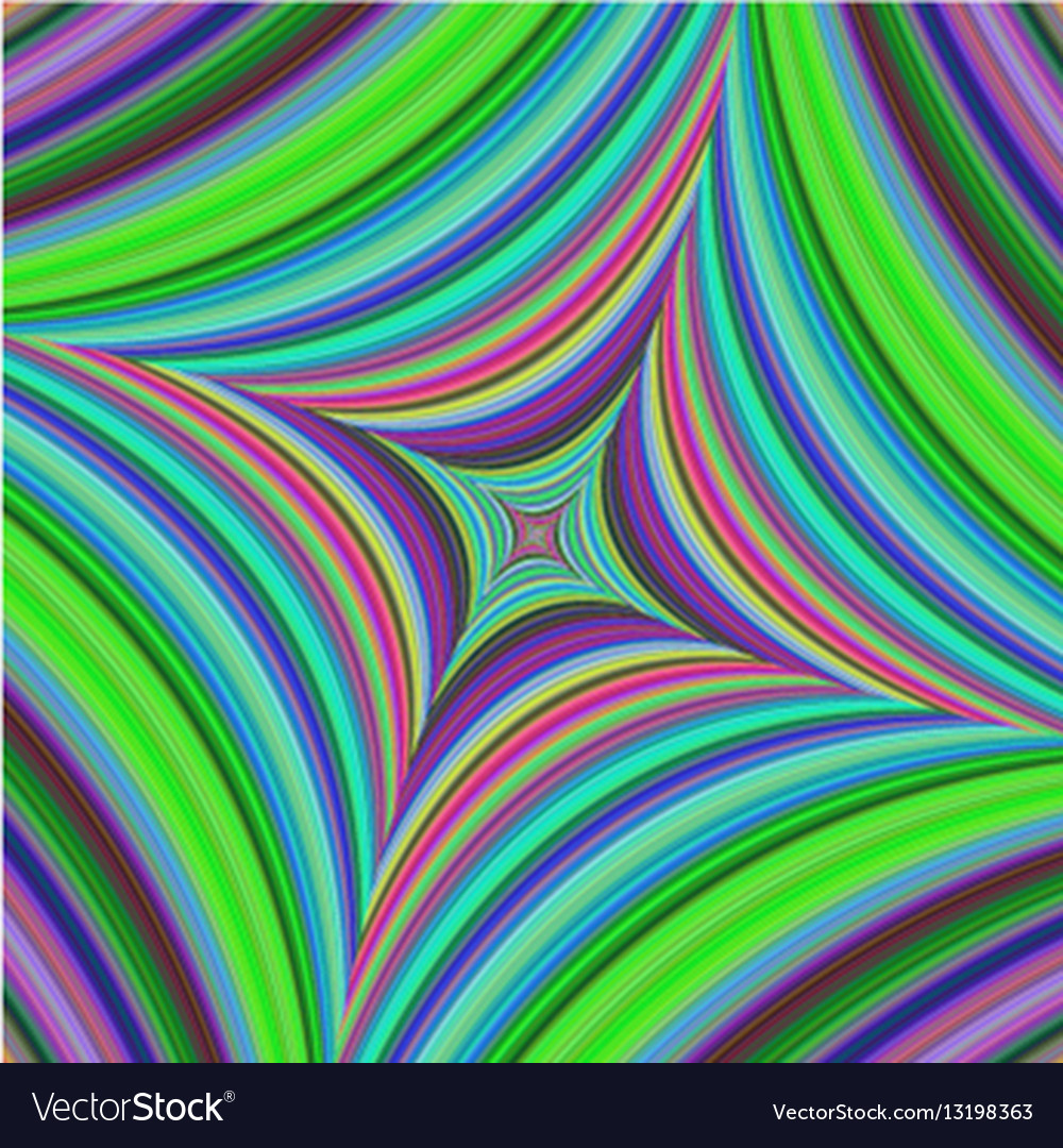 Abstract psychedelic quadratic background design vector image