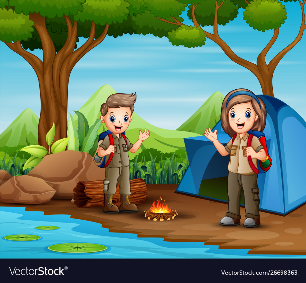 Scout and Camping Clipart - Cute Boy and Girl Scout - Cute Camping Tools -  Free SVG on Request (With images) | Clip art, Girl scouts, Camping clipart