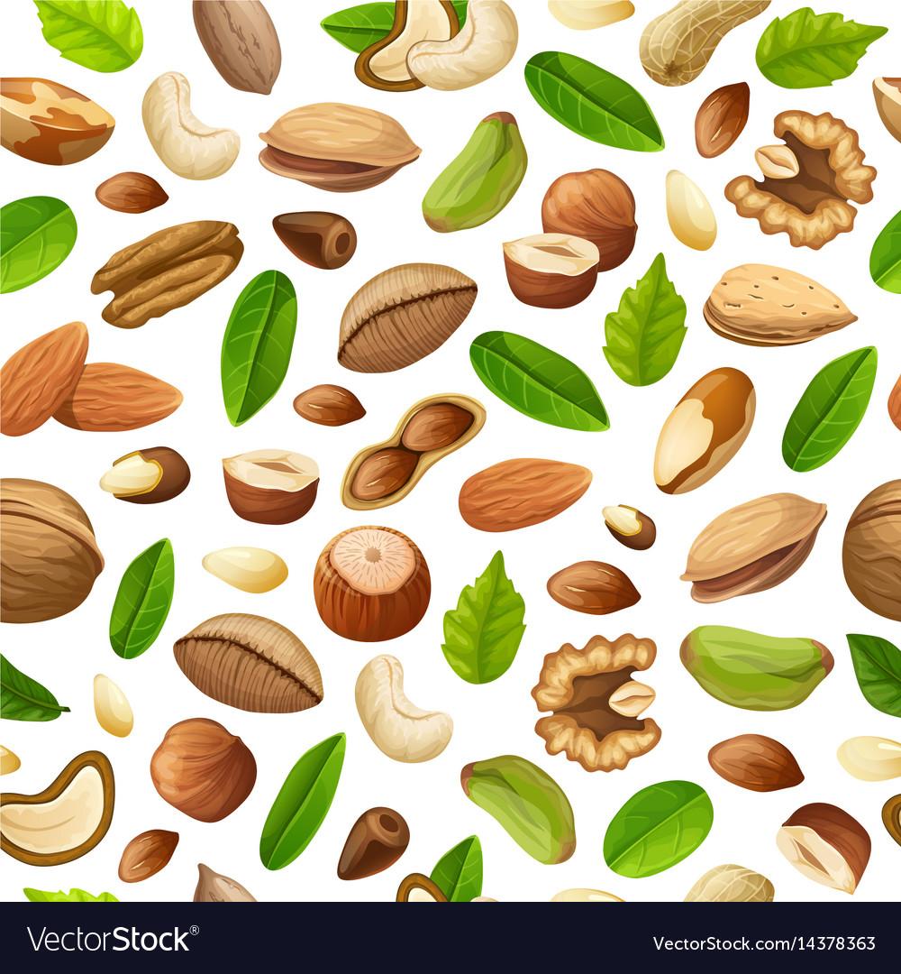 Cartoon natural food seamless pattern