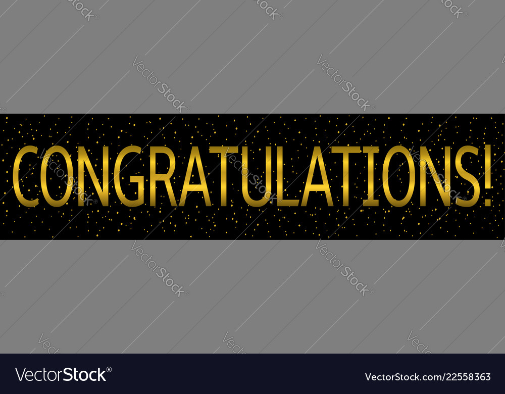 congratulations banner template royalty free vector image