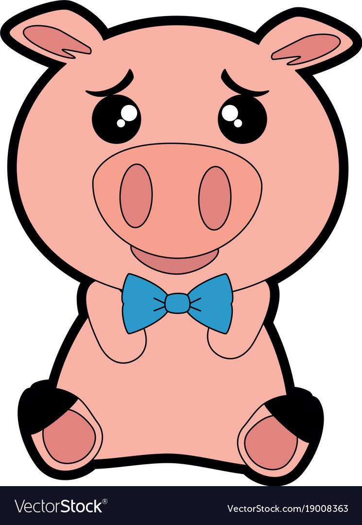 0bda9eab39 Cute Pig Emoji Kawaii Royalty Free Vector Image
