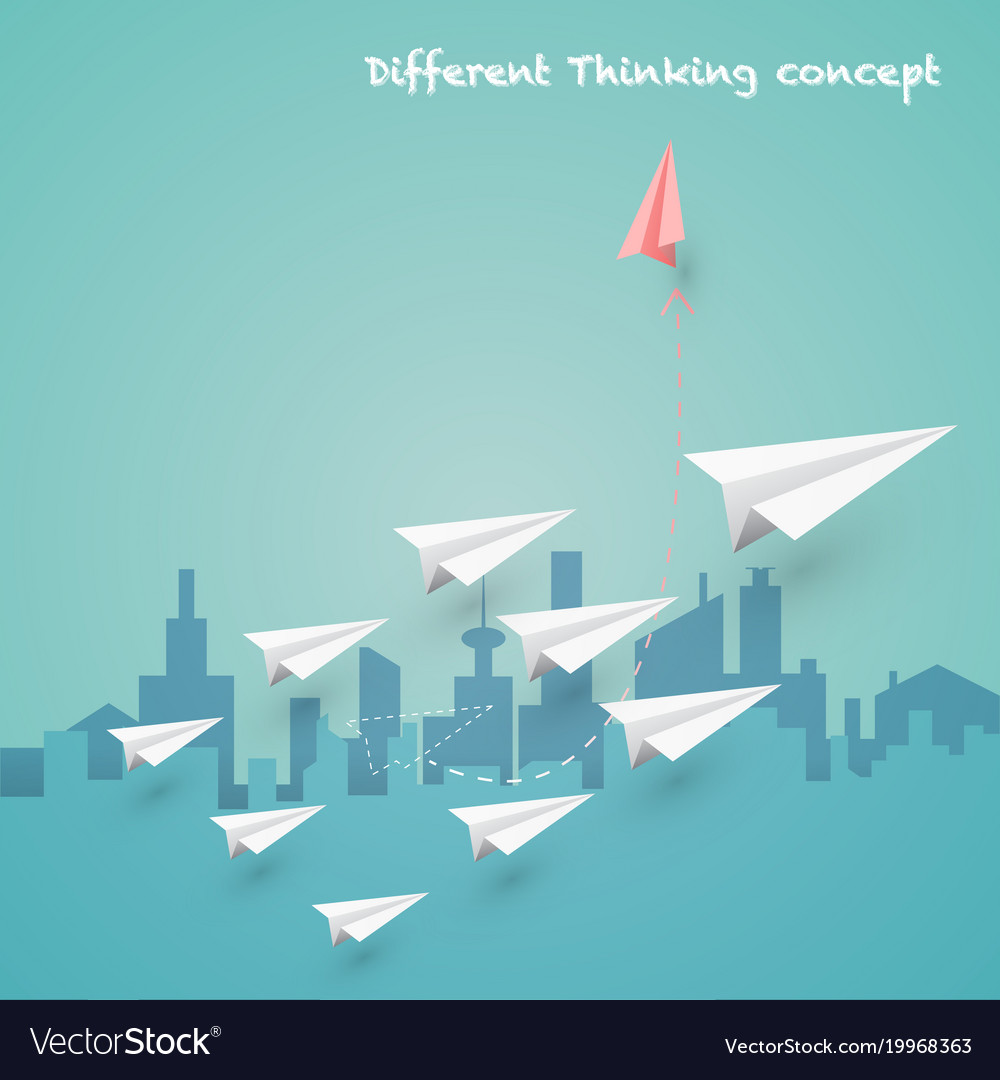 Difference thinking concept vector image