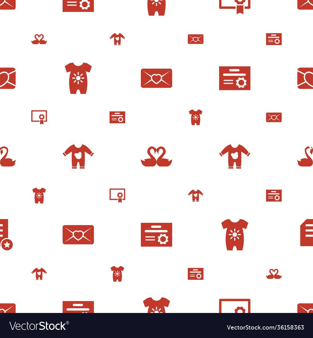 Invitation icons pattern seamless white background