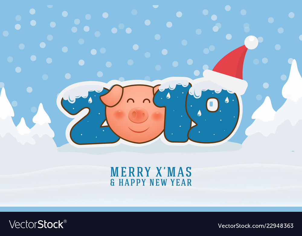 Merry christmas and happy new year 2019