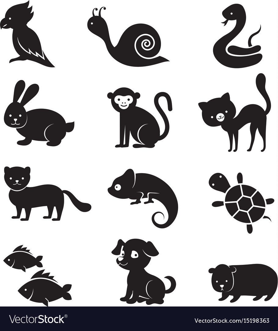 Pets and home animals icons