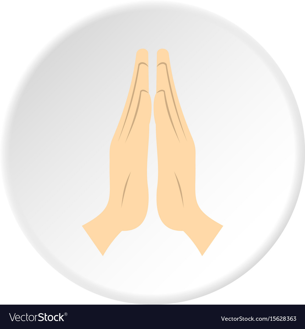 Prayer icon circle