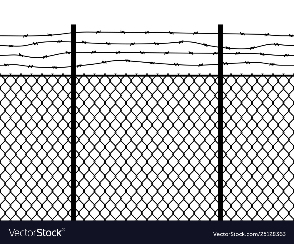 Prison fence seamless pattern metal fence wire