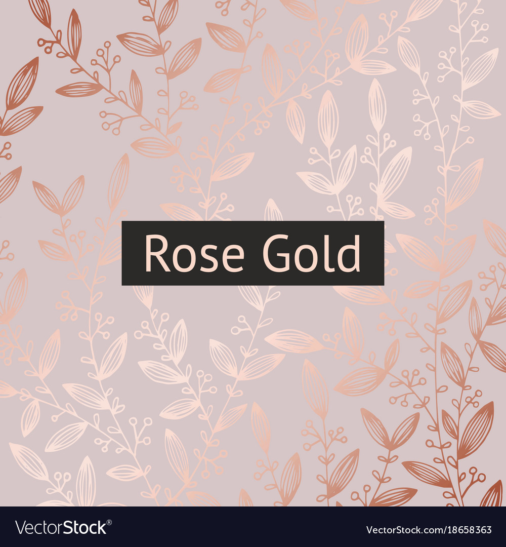 Rose Gold Floral Luxury Background For Sales Vector Image