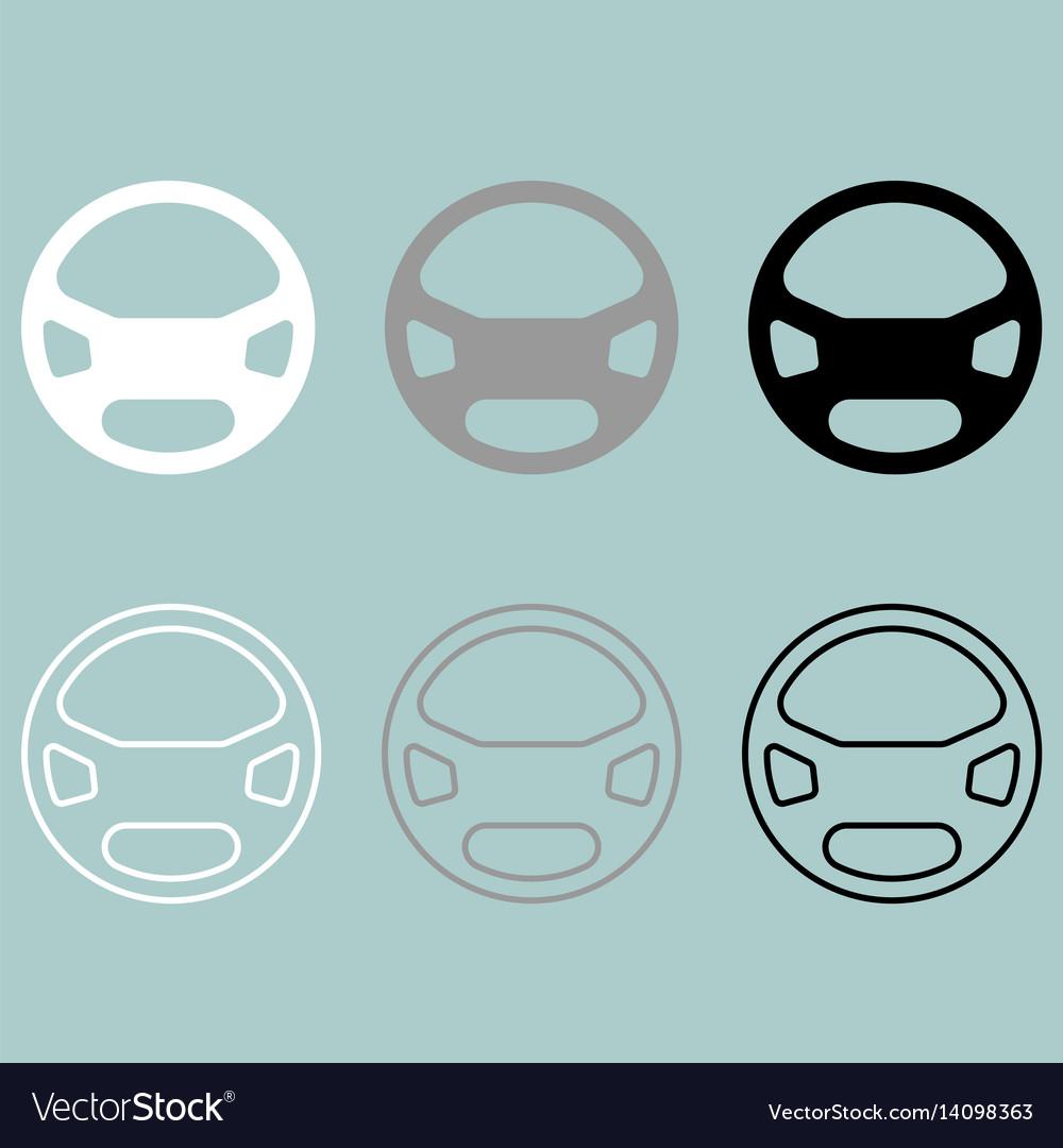 Rudder or steering wheel icon rudder or vector image
