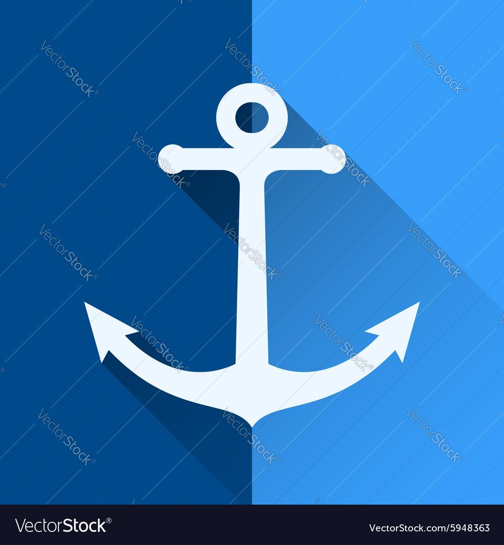 White anchor symbol