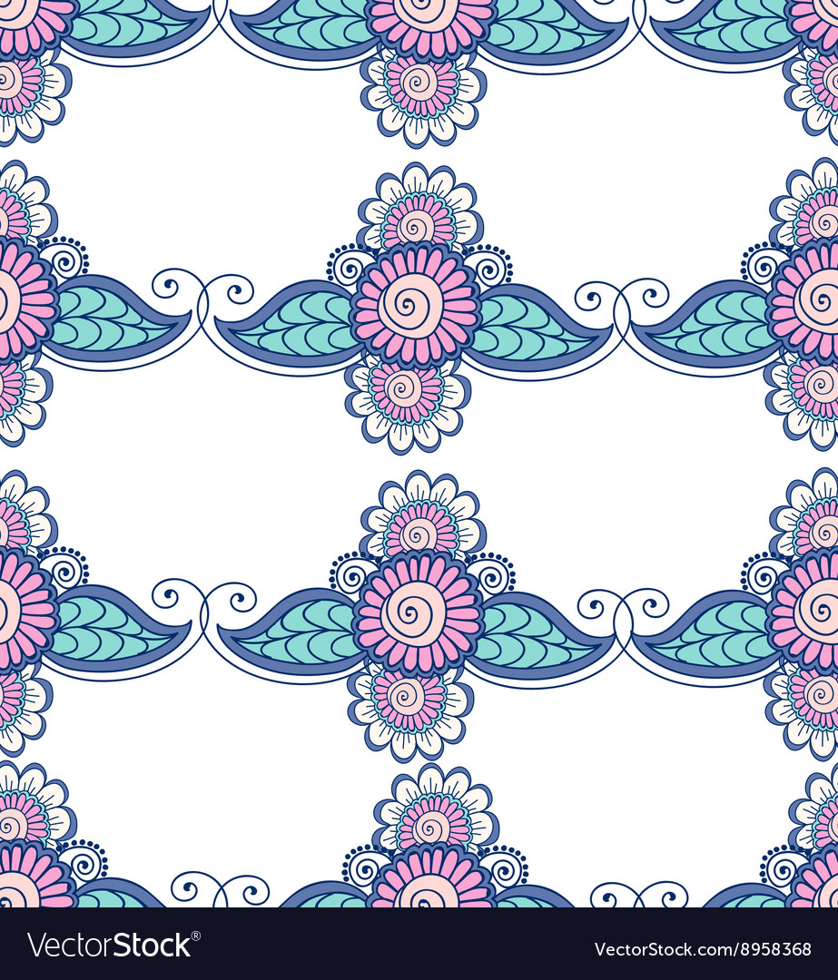 Beautiful Indian floral ornament can be used as a