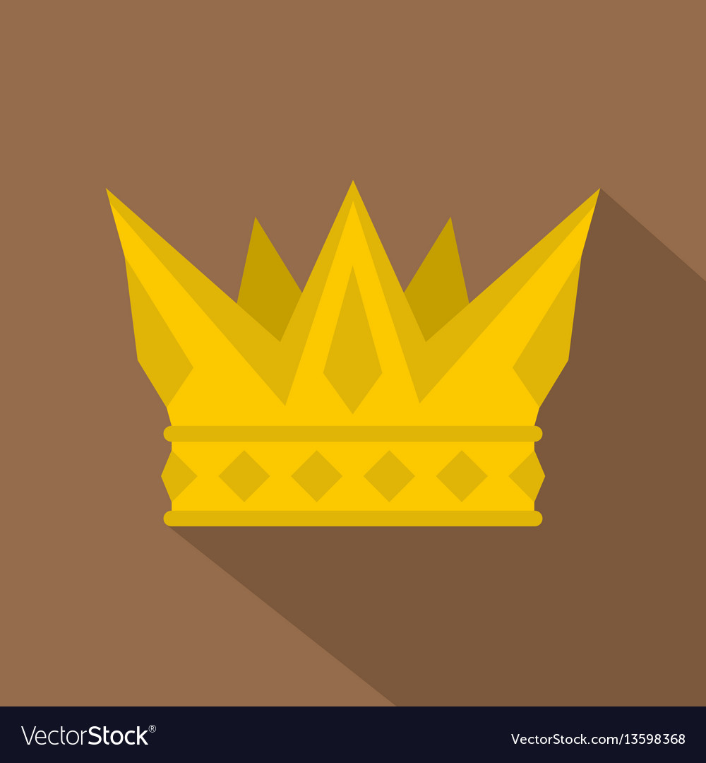 Cog crown icon flat style
