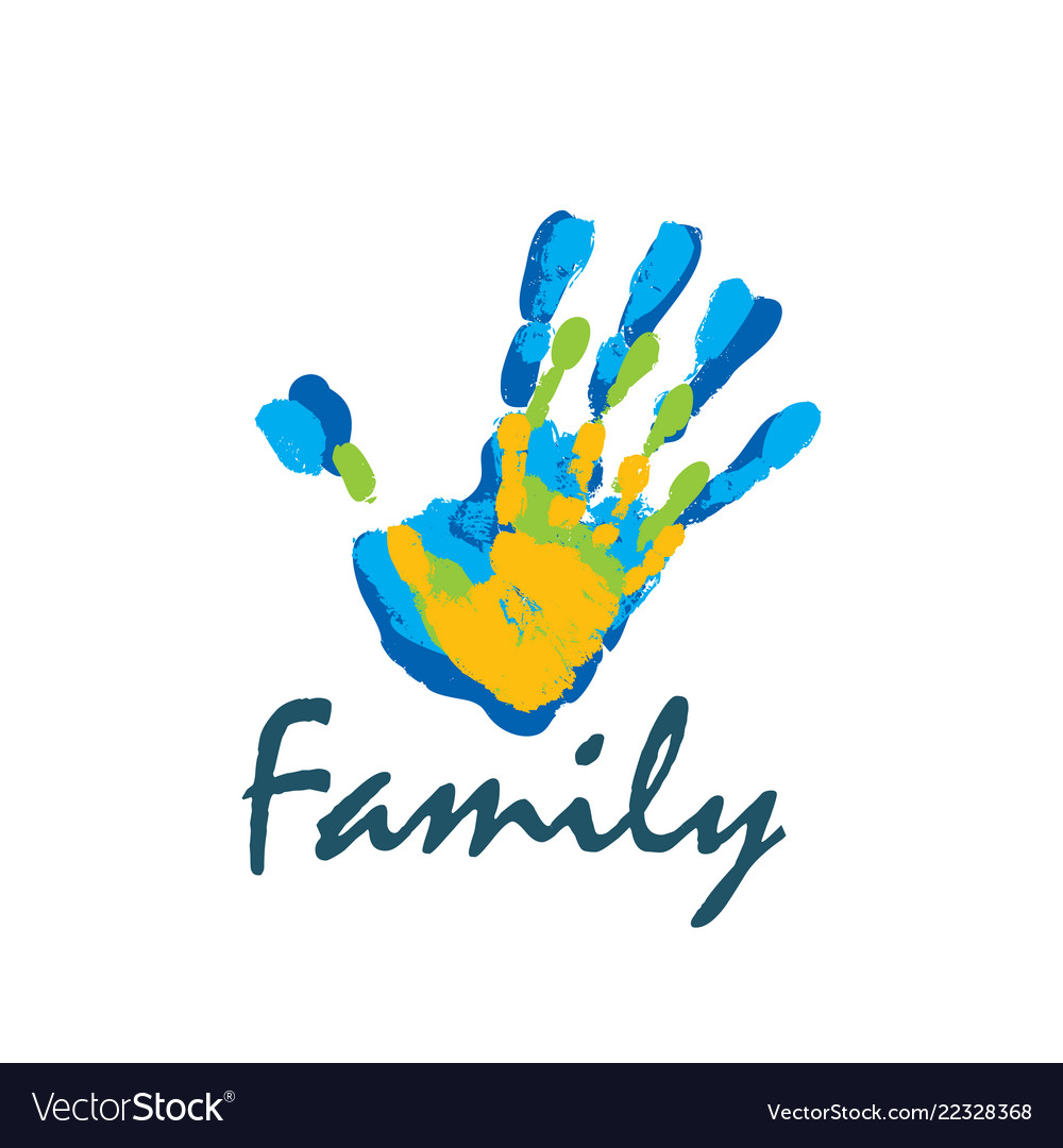Family icon in the form of hands