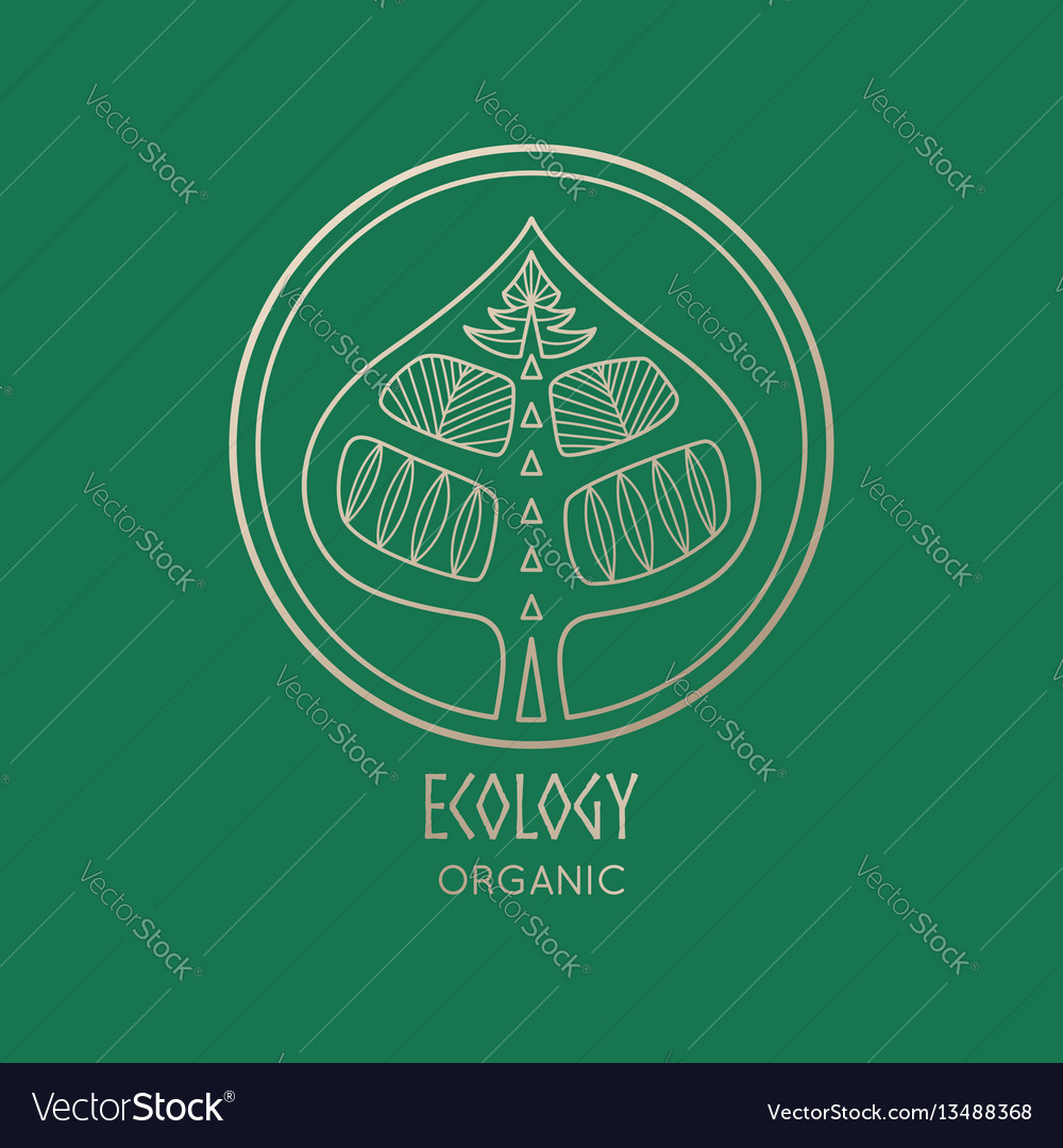 Logo abstract tree vector