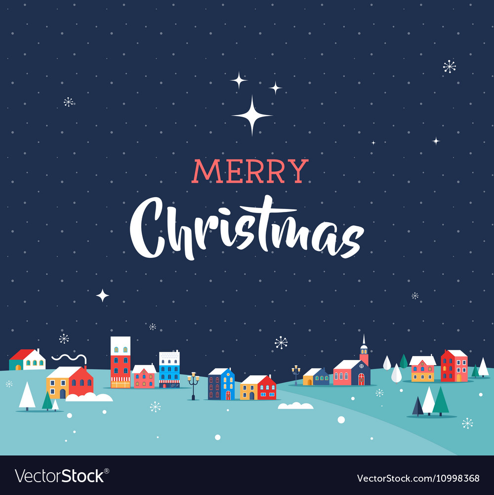 Merry Christmas greeting card poster vector image