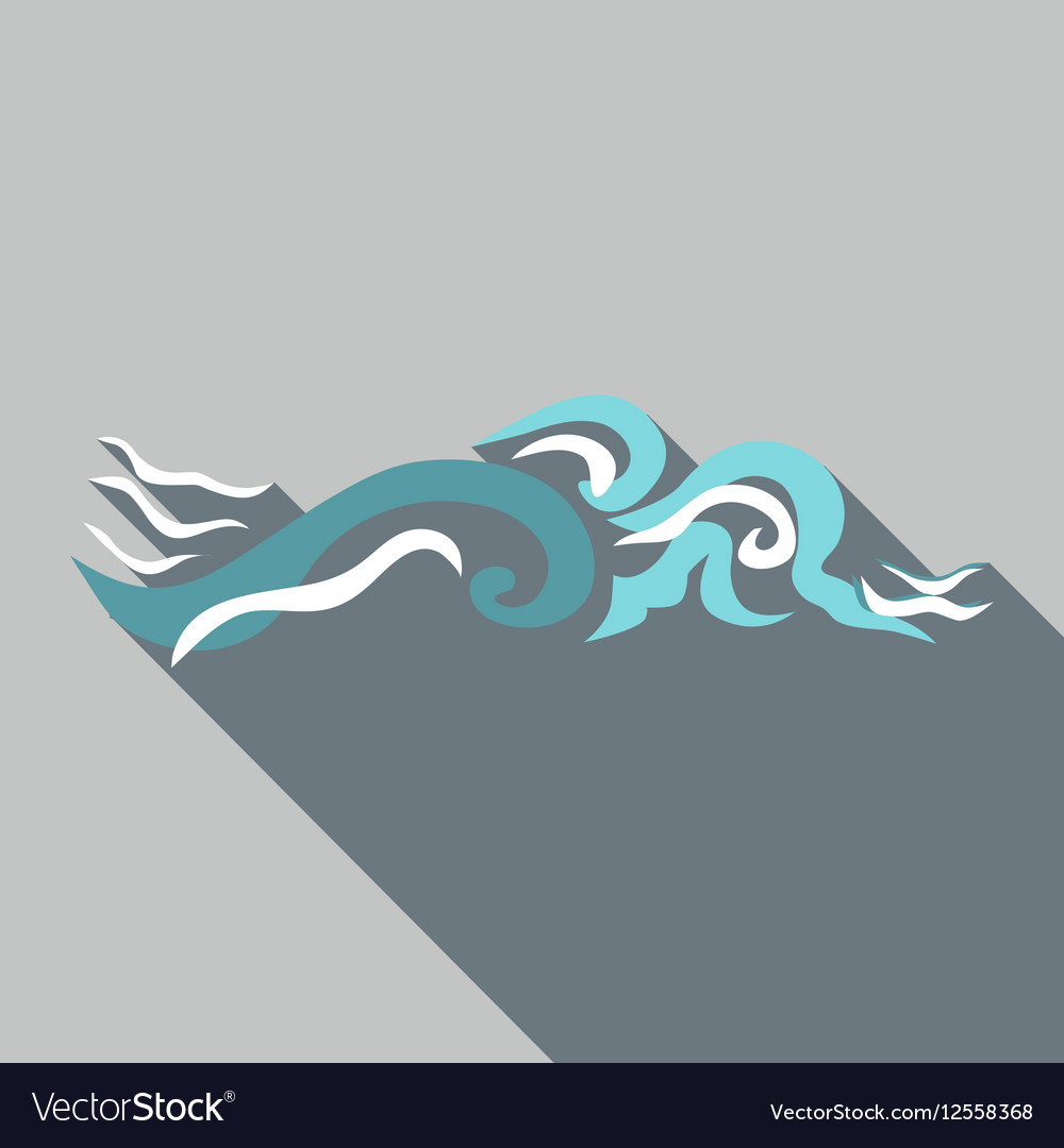 Ripple wave icon flat style vector image