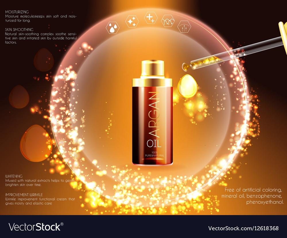 Skin serum toner template glass bottle