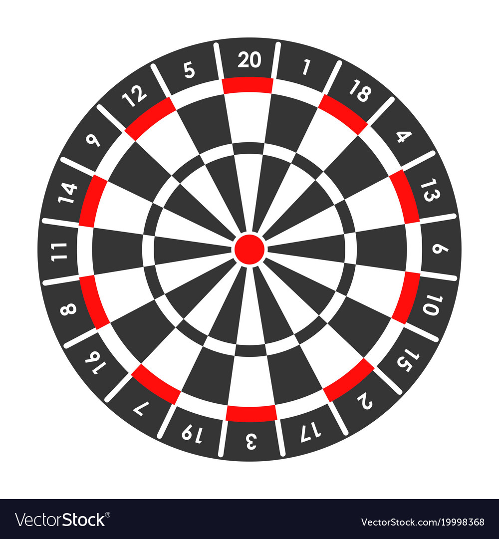 Target For Darts Game With Score Points Around Vector Image