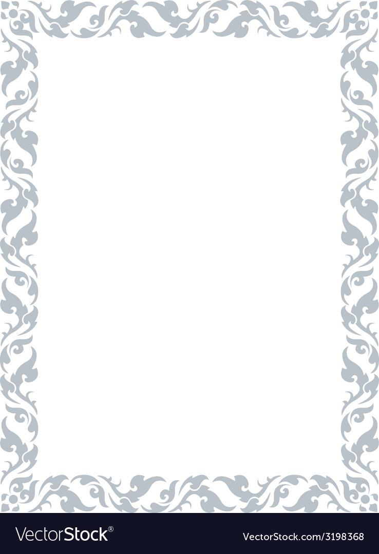 Thai pattern frame