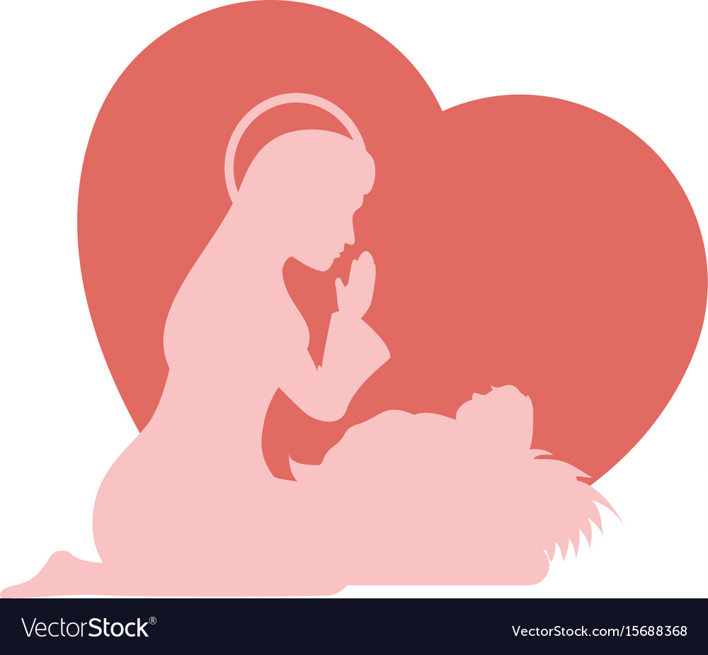 Sacred, Heart & Mary Vector Images (49)