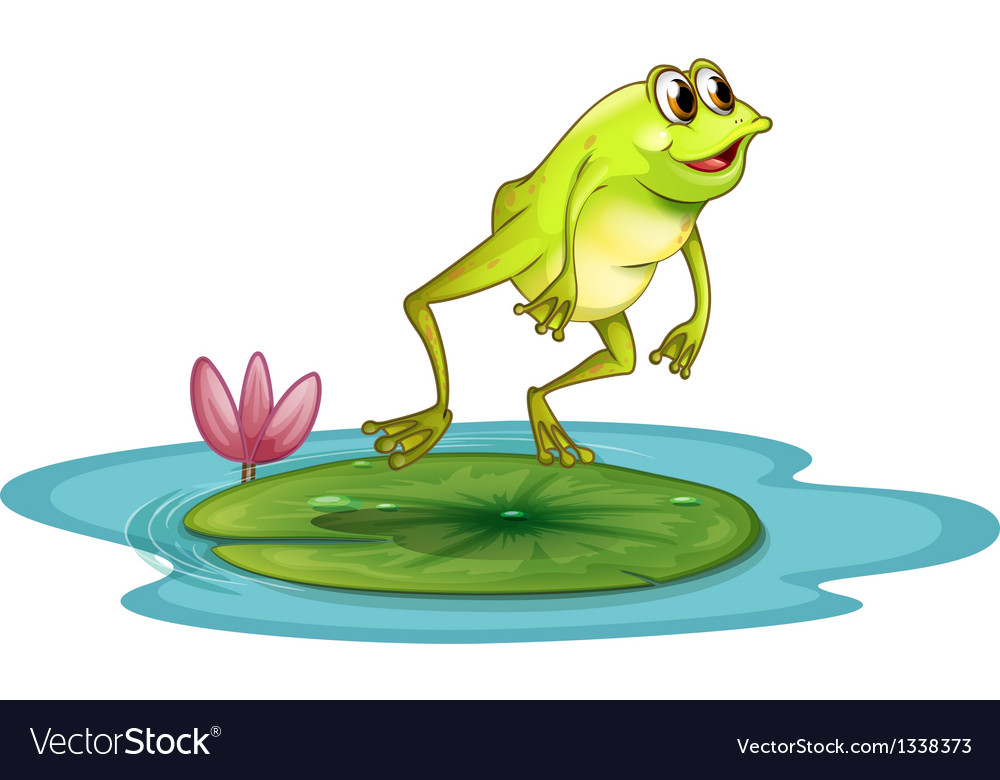 a frog at the pond royalty free vector image vectorstock rh vectorstock com Cute Frog Silhouette Frog Prince