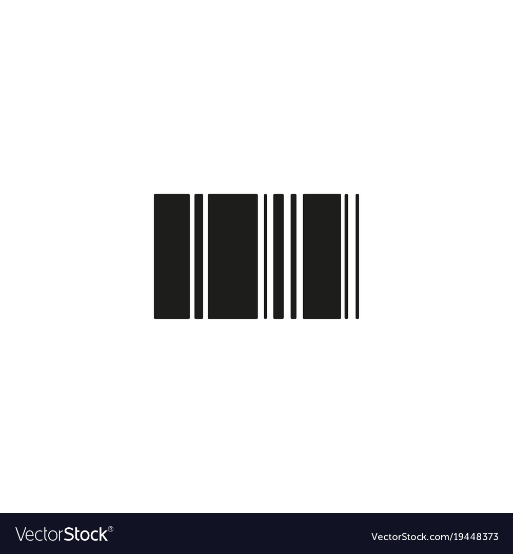 Barcode icon linear symbol with thin outline the
