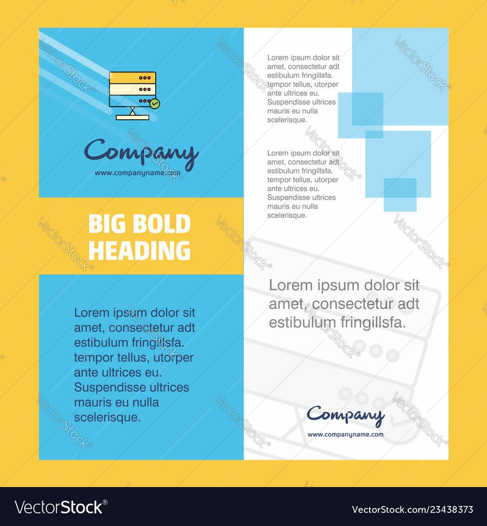 Board company brochure title page design company
