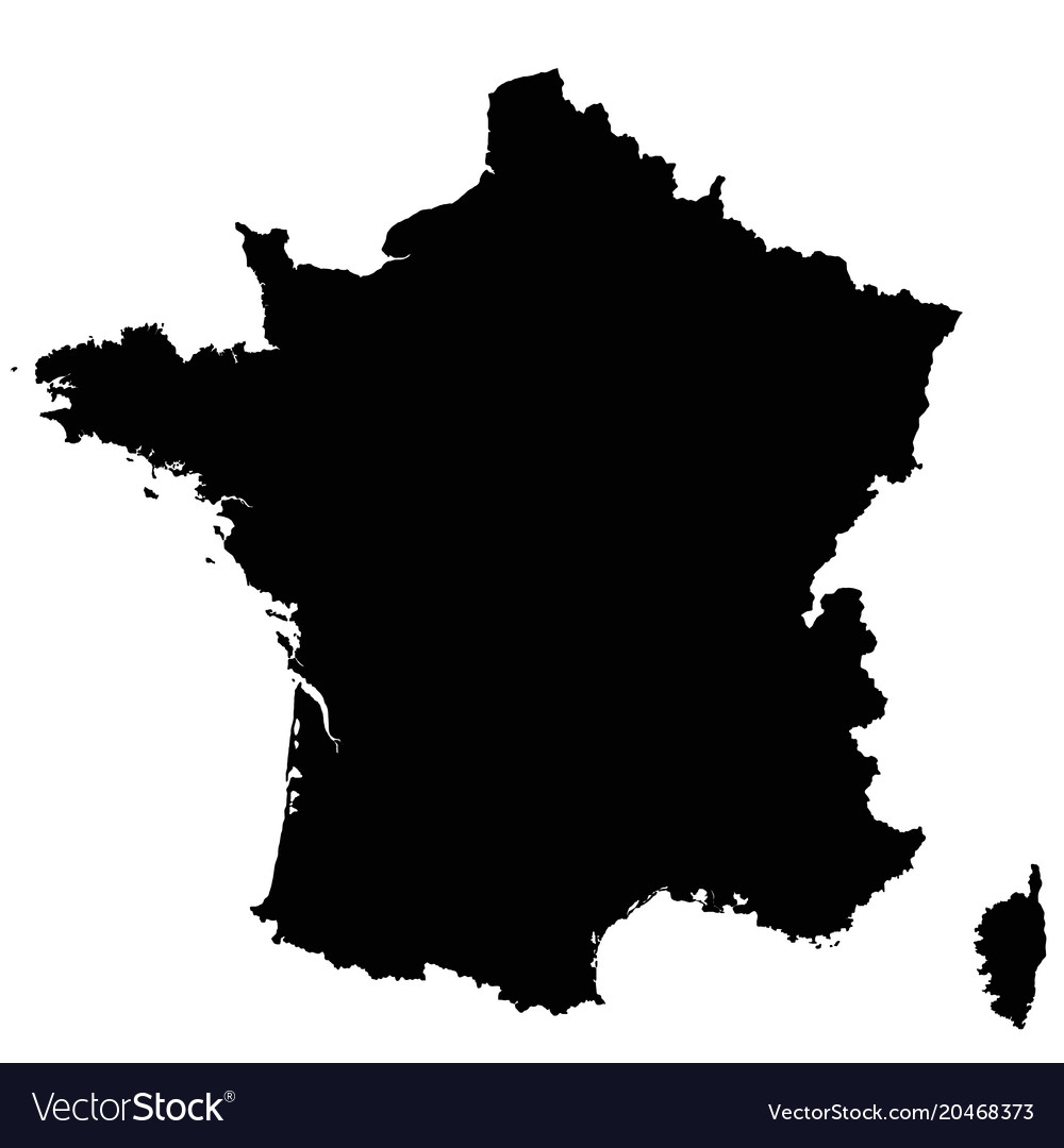 France Map Outline Royalty Free Vector Image Vectorstock