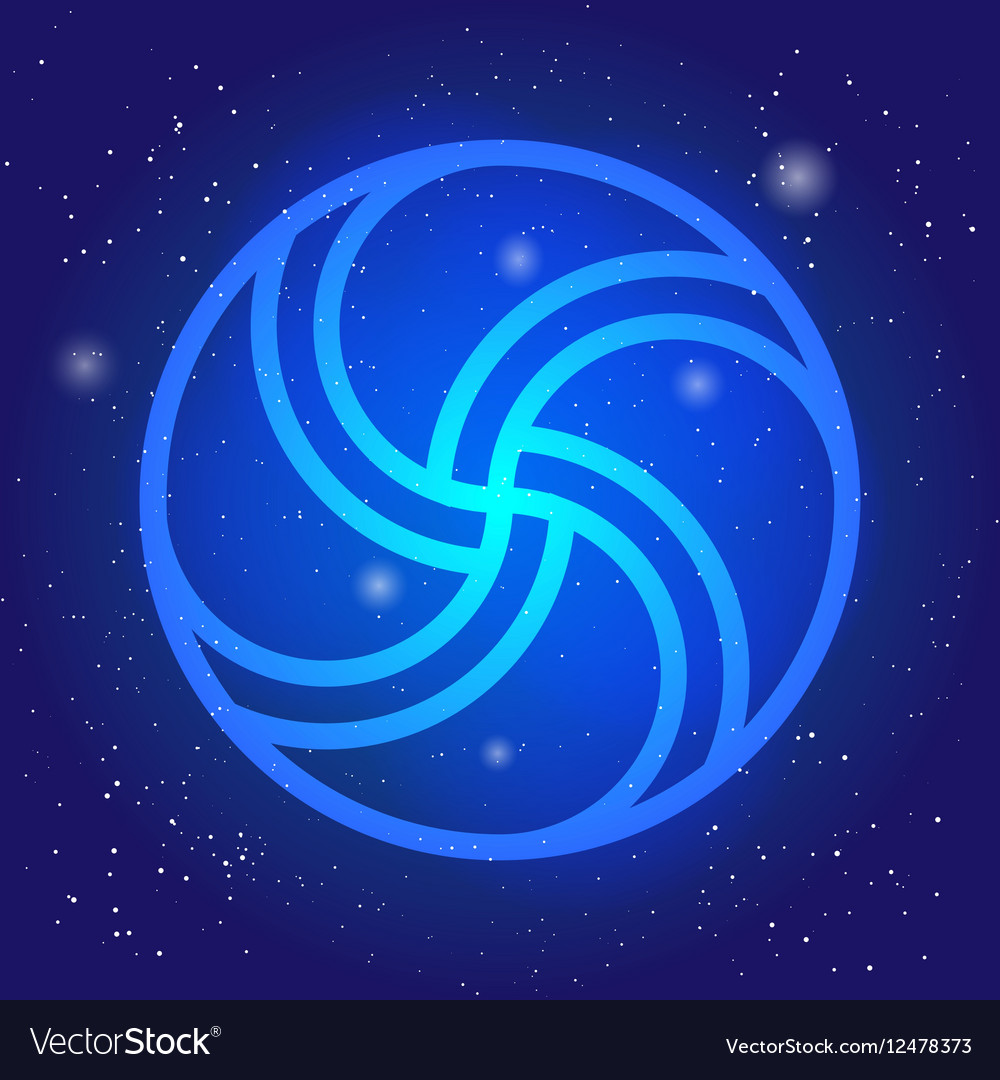 Magic wheel 3d Sacral geometry symbol in space