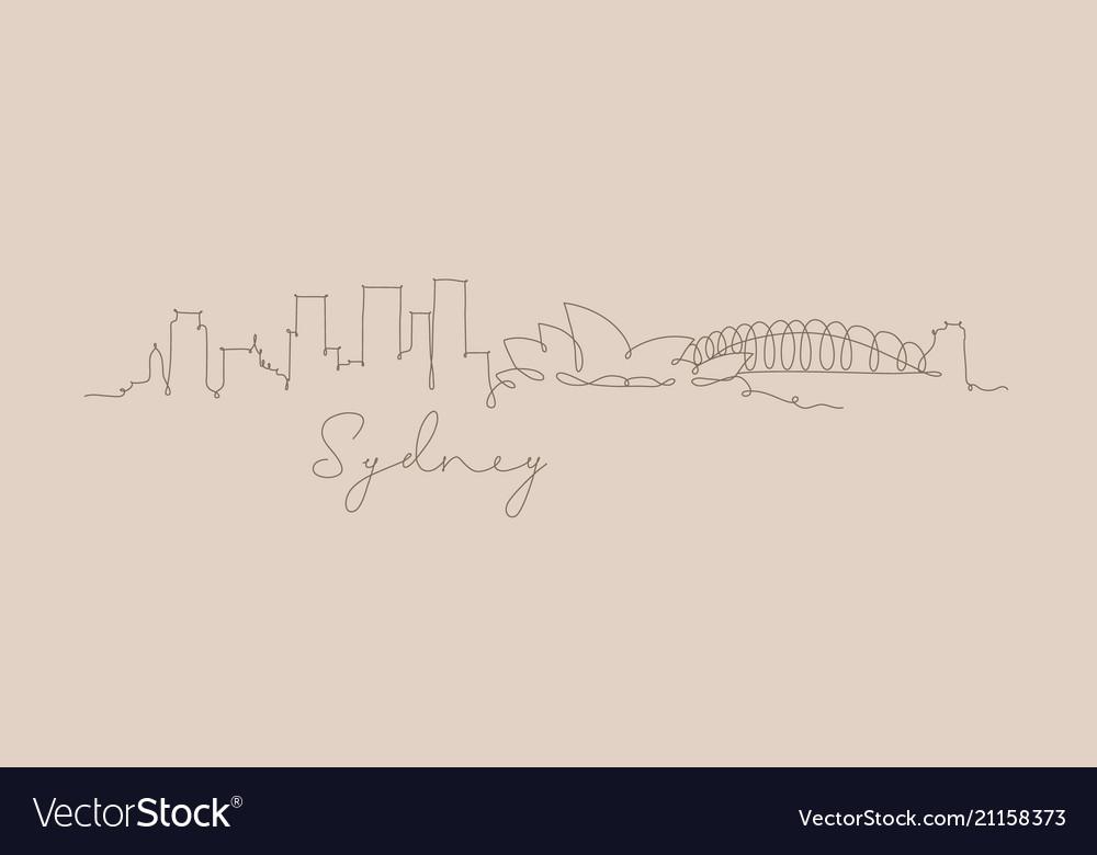 Pen line silhouette sydney beige