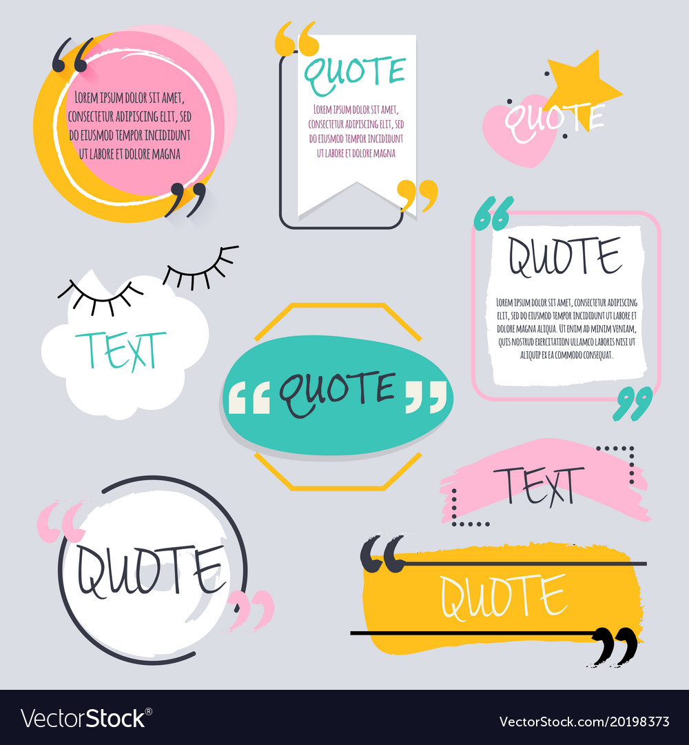Quote blank template design elements circle