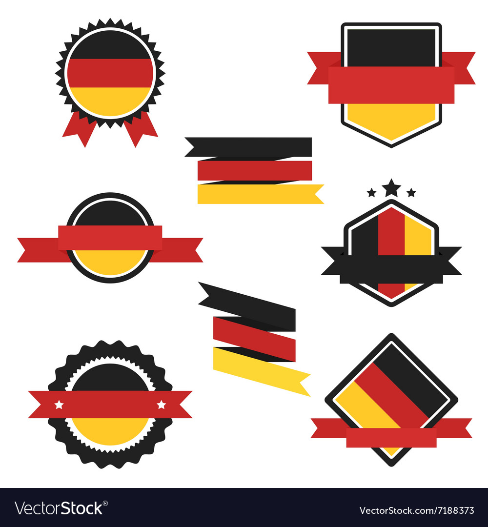 World Flags Series Flag of Germany vector image