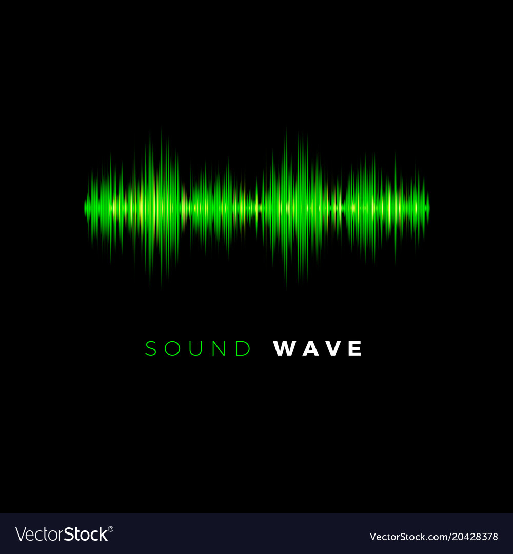 audio wave sound beat line music equalizer on vector image