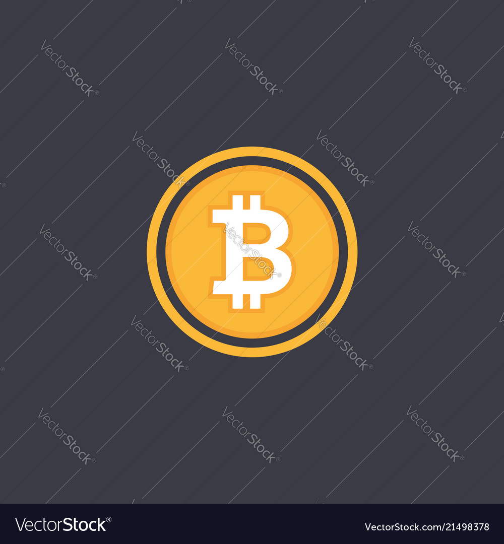Bitcoin symbol in flat design