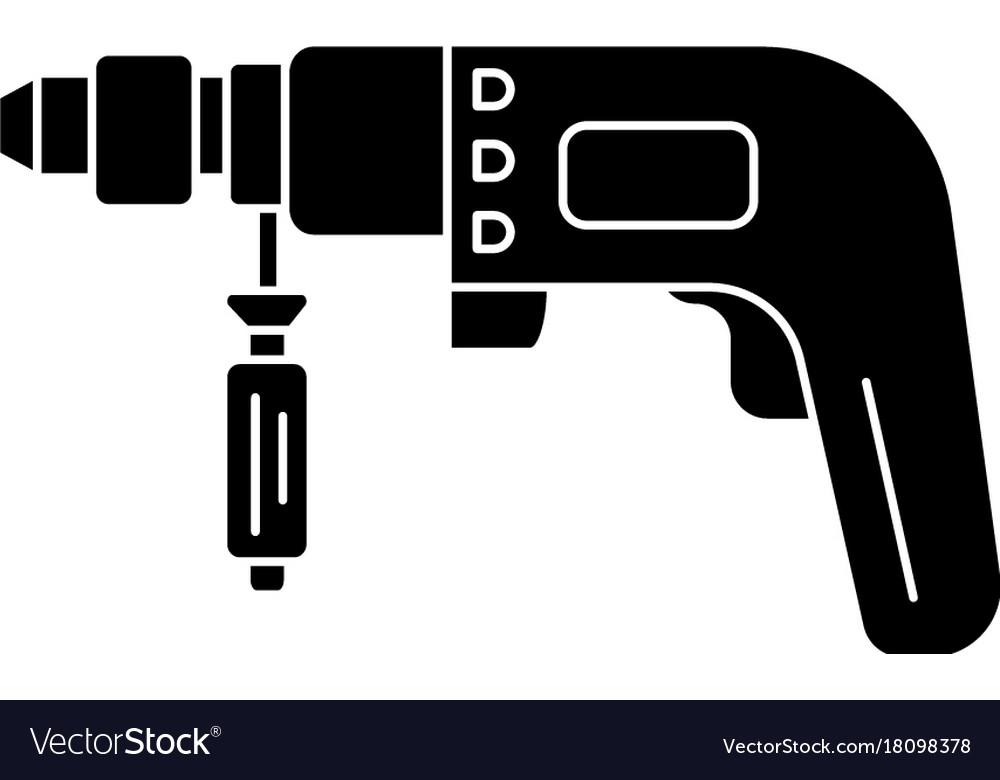 Drilling machine - perforator icon vector image